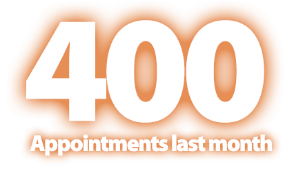 400 Appointments last month